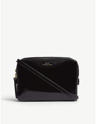 Anya Hindmarch Black The Stack Leather Double Wallet On Chain