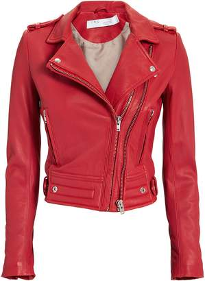 IRO Luiga Red Leather Jacket