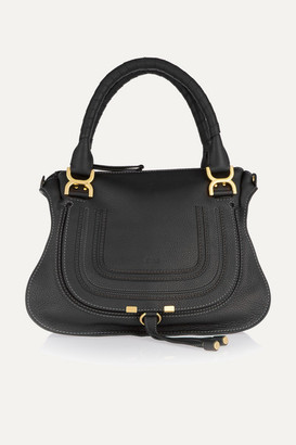 Chloé Marcie Medium Textured-leather Tote - Black