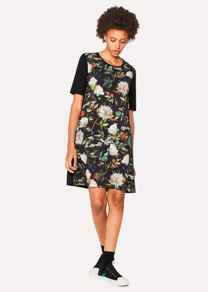 Paul Smith Women's Black 'Photographic Floral' Print Jersey Dress
