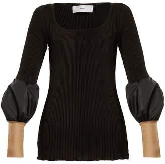 Toga Teleco mesh-cuff ribbed-knit sweater