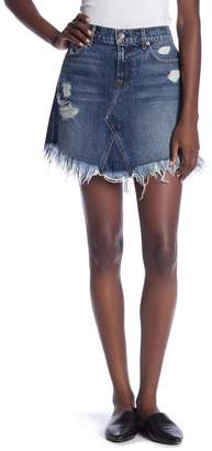 7 For All Mankind Distressed Mini Skirt
