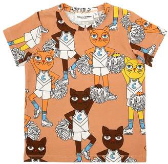 Mini Rodini Cheerleader Print Organic Cotton T-Shirt
