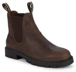 Black & Brown Black Brown Double-Pull Leather Chelsea Boots