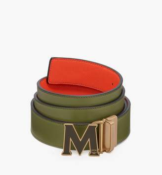 """MCM Claus Flat M Reversible Belt 1.5"""" In Logo Leather"""