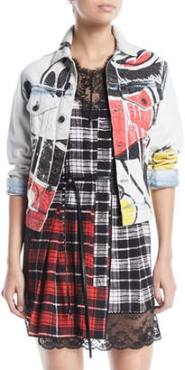 Marc Jacobs Mickey-Print Button-Down Denim Jacket