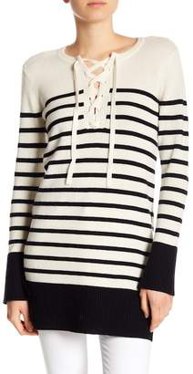 Joie Heltan Wool & Cashmere Striped Sweater