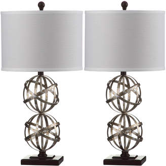 Safavieh Haley Double Sphere Table Lamps, Set of Two