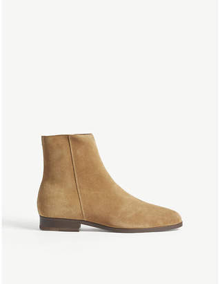 Sandro E18 Blake suede ankle boots