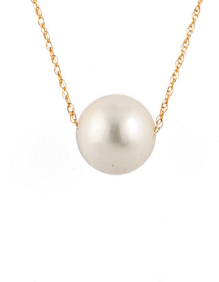 Splendid Pearls 14K Yellow Gold 10-11Mm Freshwater Pearl White Pearl Gold Threader Necklace