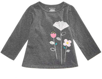 First Impressions Baby Girls Tulle Flower Graphic Shirt