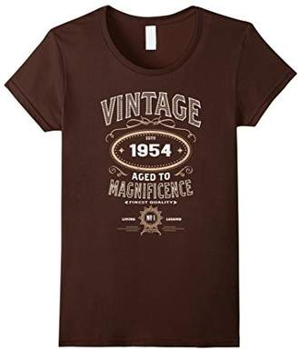 Vintage Aged To Magnificence 1954 64th Birthday Gift T-shirt
