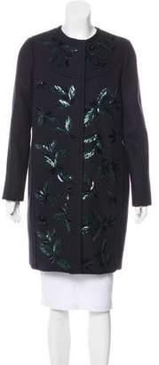 Tory Burch Heavyweight Embellished Coat