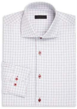 Saks Fifth Avenue COLLECTION Tattersall Checked Dress Shirt