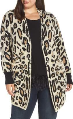 Vince Camuto Cheetah Print Long Cardigan