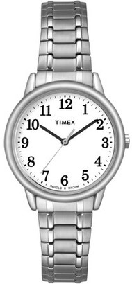 Timex Women's Easy Reader Watch, Silver-Tone Stainless Steel Expansion Band