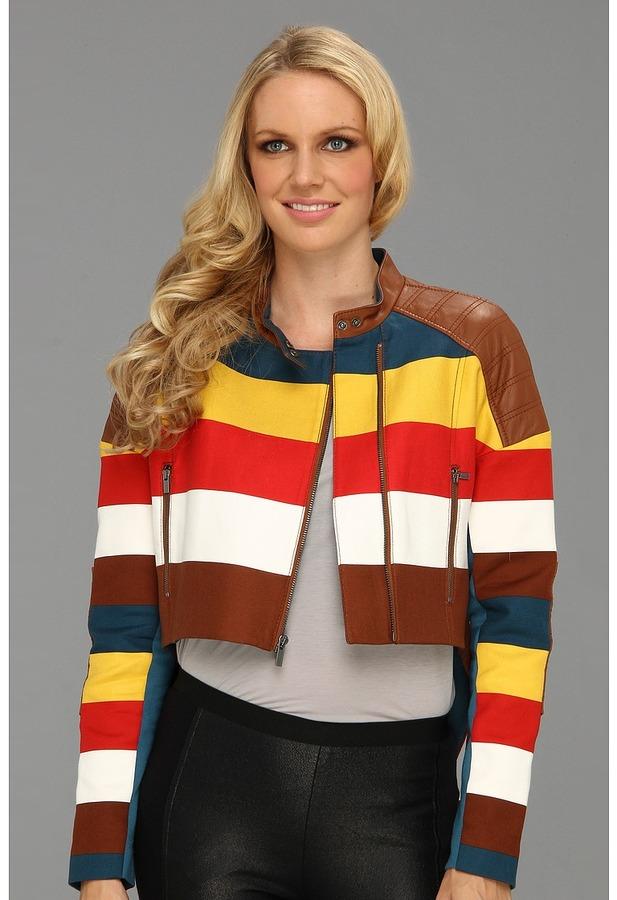 BCBGMAXAZRIA Blu Woven Jacket (Ginger Combo) - Apparel