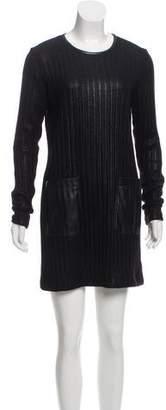 Derek Lam Long Sleeve Coated Dress