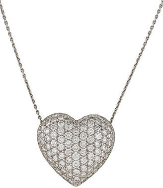 Tiffany & Co. Pavé Diamond Heart Pendant Necklace $6,995 thestylecure.com