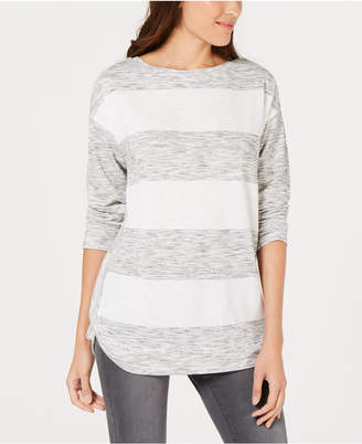 Style&Co. Style & Co Petite Striped Top
