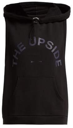The Upside Scout Sleeveless Cotton Sweatshirt - Womens - Black