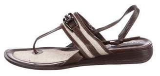 Via Spiga Leather Slingback Sandals
