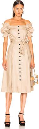Marissa Webb Charlize Canvas Dress in Sandshell   FWRD