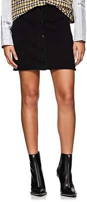 Alexander Wang Women's Knit Cotton Miniskirt - Black