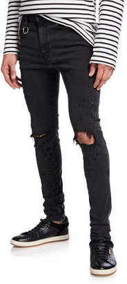Diesel Men's Distort Ripped-Knee Skinny Denim Jeans
