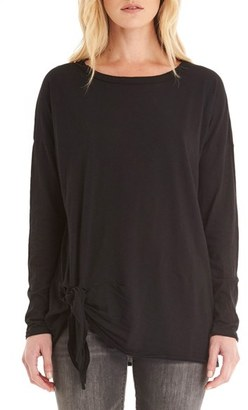 Women's Michael Stars Knotted Hem Jersey Tee $84 thestylecure.com