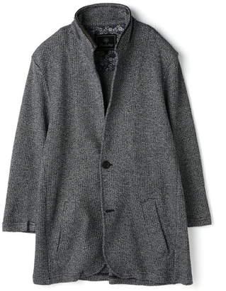 Men's Bigi (メンズ ビギ) - MEN'S BIGI 7分袖スタンドカラーニットジャケット メンズ ビギ コート/ジャケット