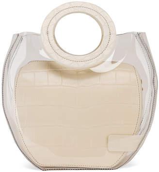 STAUD Frida Bag in Clear & Cream | FWRD