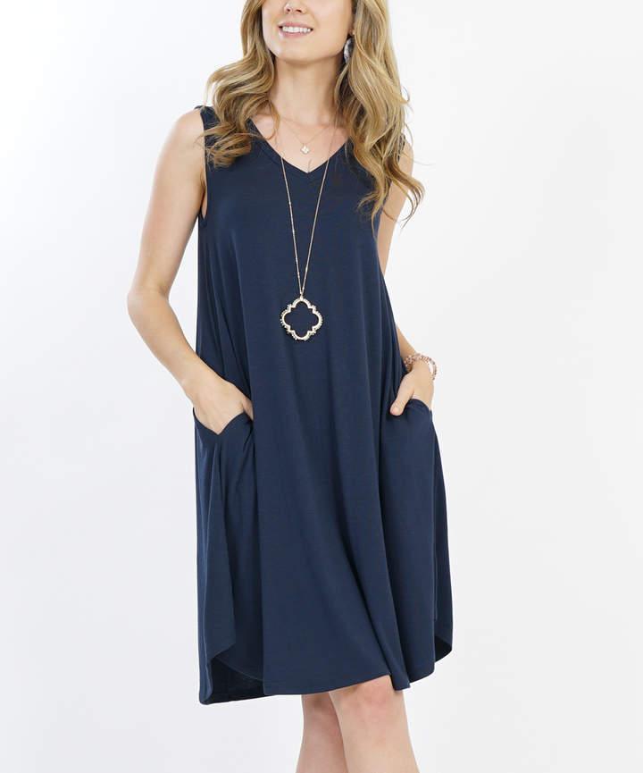 Midnight Pocket V-Neck Dress - Women & Plus
