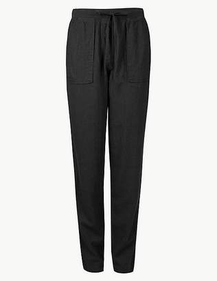 Marks and Spencer Linen Rich Jersey Peg Trousers