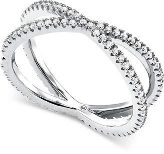 Michael Kors Women's Custom Kors Sterling Silver Pave Nesting Ring Insert