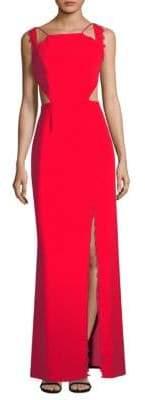 Aidan Mattox Lace Trimmed Gown