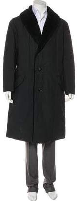 Issey Miyake Sherpa-Trimmed Quilted Coat