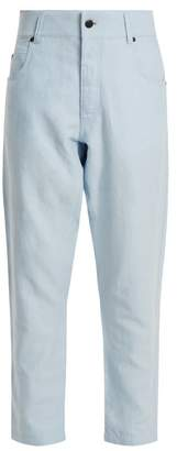 Haider Ackermann - Dropped Crotch Tapered Trousers - Womens - Light Blue