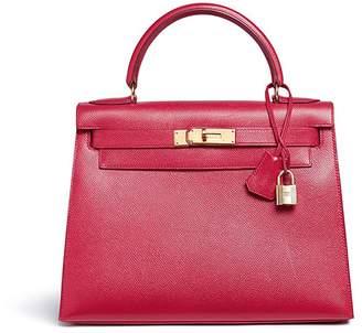 Hermes Vintage Kelly 28cm Courchevel leather bag