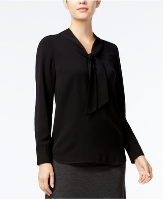 kensie Crepe Bow Blouse $69 thestylecure.com