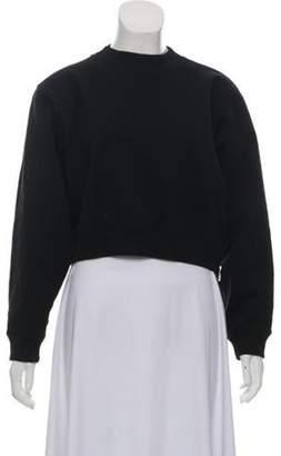 Acne Studios Zip-Up Crew Neck Sweatshirt Black Zip-Up Crew Neck Sweatshirt