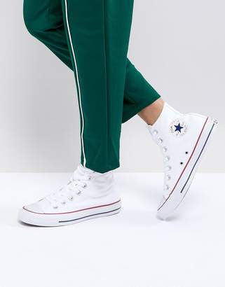 Converse high top white sneakers