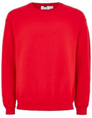 Topman Mens Red Oversized Sweatshirt
