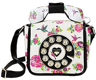 Betsey Johnson Betsey's Hotline Floral Phone Cross-Body Bag $98 thestylecure.com