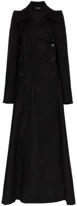 Ann Demeulemeester double-breasted wool maxi coat