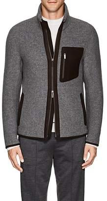 Ermenegildo Zegna Men's Leather-Trimmed Wool-Cashmere Hiking Jacket