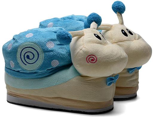 Blue & Tan Snail Slipper - Women