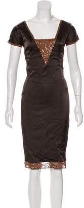 Dolce & Gabbana Lace-Accented Midi Dress