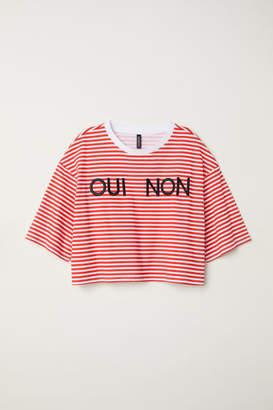 H&M Short-sleeved Sweatshirt - Red