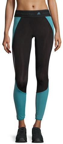 adidas by Stella McCartney Run ClimaheatTM Compression Tights, Black/Harbour Blue